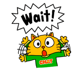 Chat in English with TBS CatChat! sticker #9205226