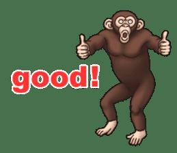 Crazy Funky Monkey sticker #9211011