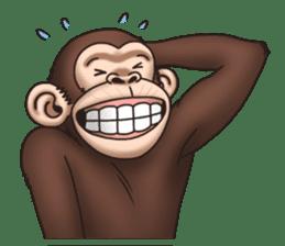 Crazy Funky Monkey sticker #9211012