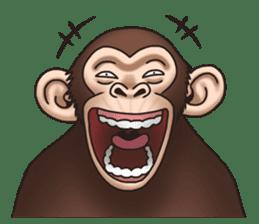 Crazy Funky Monkey sticker #9211013