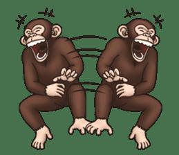 Crazy Funky Monkey sticker #9211015