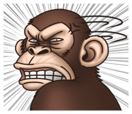 Crazy Funky Monkey sticker #9211016