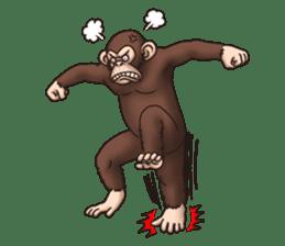 Crazy Funky Monkey sticker #9211017