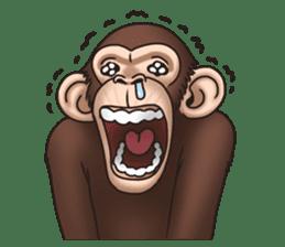 Crazy Funky Monkey sticker #9211018