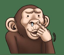 Crazy Funky Monkey sticker #9211023