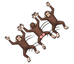 Crazy Funky Monkey sticker #9211029