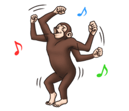 Crazy Funky Monkey sticker #9211030
