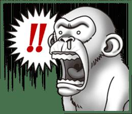 Crazy Funky Monkey sticker #9211034