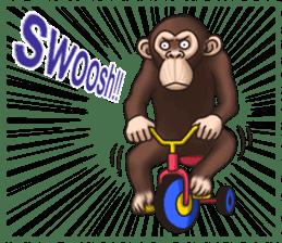 Crazy Funky Monkey sticker #9211035
