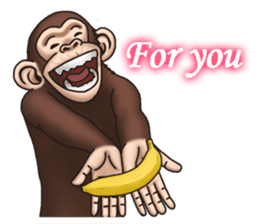 Crazy Funky Monkey sticker #9211036