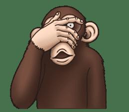 Crazy Funky Monkey sticker #9211039