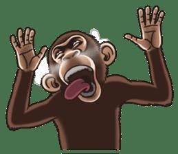 Crazy Funky Monkey sticker #9211042