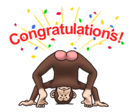 Crazy Funky Monkey sticker #9211046