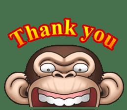Crazy Funky Monkey sticker #9211047