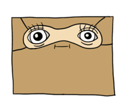 The Paper Bag Man sticker #9213481
