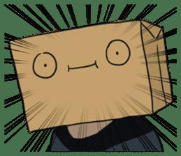 The Paper Bag Man sticker #9213487