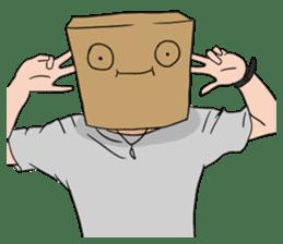 The Paper Bag Man sticker #9213501
