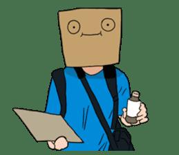 The Paper Bag Man sticker #9213502
