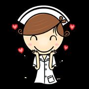 สติ๊กเกอร์ไลน์ พ.กลม vol.nurse