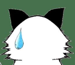 White cat comics style sticker #9220798