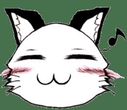White cat comics style sticker #9220803