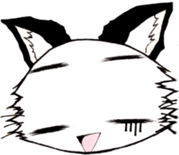 White cat comics style sticker #9220827