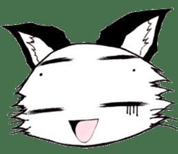 White cat comics style sticker #9220830