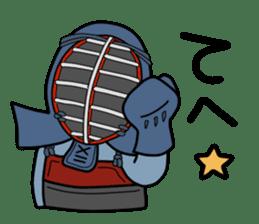 KENDO Samurai Boy 3 sticker #9223519