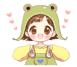 Hat of a frog sticker #9223912