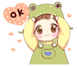 Hat of a frog sticker #9223920