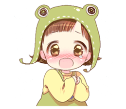 Hat of a frog sticker #9223925