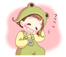 Hat of a frog sticker #9223926
