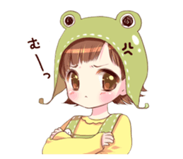 Hat of a frog sticker #9223930