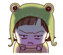 Hat of a frog sticker #9223942
