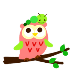 A colorful owl * sometimes Caterpillar