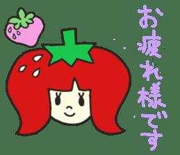 Second edition strawberry girl stickers. sticker #9225917