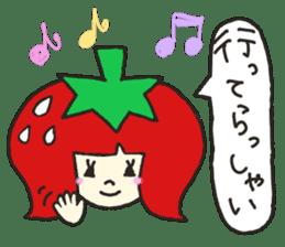 Second edition strawberry girl stickers. sticker #9225919