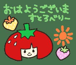 Second edition strawberry girl stickers. sticker #9225926