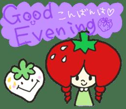 Second edition strawberry girl stickers. sticker #9225927