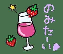 Second edition strawberry girl stickers. sticker #9225942