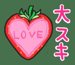 Second edition strawberry girl stickers. sticker #9225949