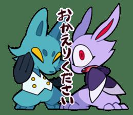 Vampire Bunny sticker #9251101
