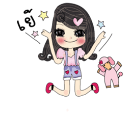 Pink cute sticker #9252944