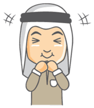 Alif Muslim Man sticker #9257017