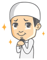 Alif Muslim Man sticker #9257023