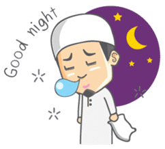 Alif Muslim Man sticker #9257024