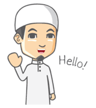 Alif Muslim Man sticker #9257028
