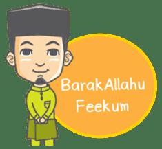Alif Muslim Man sticker #9257036