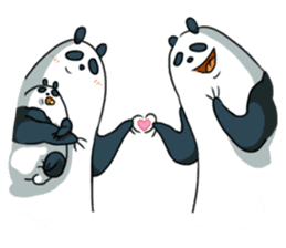 Panda & Chickens 2:My Family sticker #9257255