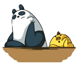 Panda & Chickens 2:My Family sticker #9257283
